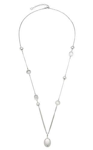 Jewels by Leonardo Damen-Halskette Manina, Edelstahl mit Bergkristallen und Schliff-Glassteinen, mit Karabinerverschluss, Länge 800 mm, 016830