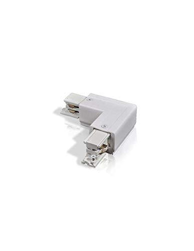 Connettore angolo 90° binario bianco – 4 Wires Trifase