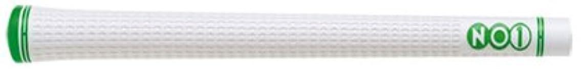 エアコン共産主義者無力グリップ NO1 NO1グリップ 48シリーズ ホワイト (ホワイト×グリーン, バックライン有)