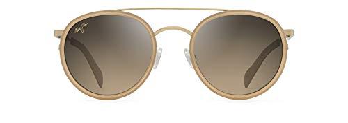 Maui Jim - Gafas de sol deportivas polarizadas, no asignadas, (Oro con piedra arenisca.), Medium