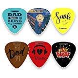 Dad Guitar Picks Celluloid Medium (12-Pack) - Best Dad Ever - Unique...