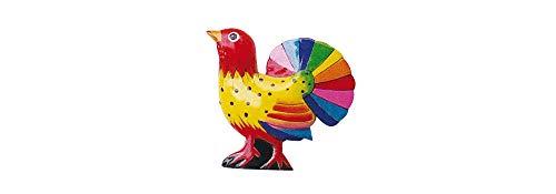 Nick ben bU-aimant coq arc-en-ciel-eRRO holzmagnet, coq colorée décorative