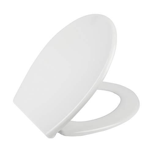 Tapa wc universal Mod. DOMO, tapa wc universal dura compatible con modelos de roca, gala, delafon, sangra y otras marcas. Incluye bisagras tapa wc y tornillos. Color blanco.