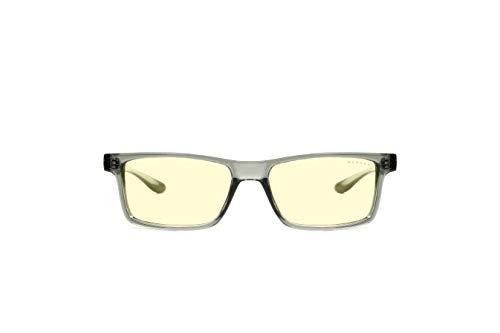 Gunnar Gaming- und Computerbrille | Vertex, Smoke Rahmen, Amber Linse | Blue Light Blocking Glasses | Patentierte Linse, 65% Blaulicht- & 100% UV-Lichtschutz zur Verringerung der Augenbelastung