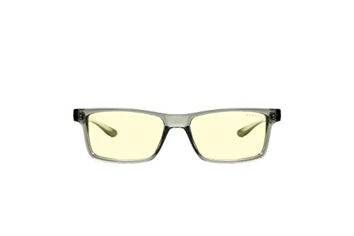 Gunnar Gaming- und Computerbrille | Vertex, Smoke Rahmen, Amber Linse | Blue Light Blocking Glasses | Patentierte Linse, 65% Blaulicht- & 100% UV-Lichtschutz zur Verringerung der Augenbelastung