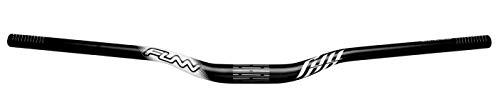 Full On MTB Handlebar, Bar Clamp 31.8mm, Width 785mm, Alloy Riser Bar for Mountain Bike (Rise 15mm, Black)
