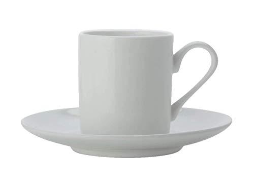 Maxwell Williams Cashmere Espressotasse und Untertasse, feines Knochenporzellan, Weiß, 100 ml