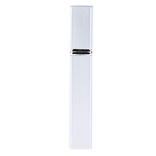 Homyl 12ml Verre Parfum Flacon Vaporisateur, Bouteille de Voyage Vide Réutilisables Transparent Atomiseur De Poche - Argent