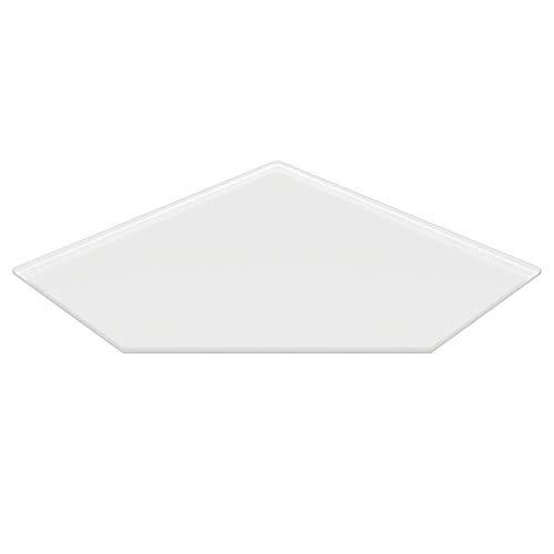 Milchglas Glasbodenplatte Funkenschutzplatte Kaminplatte Glas Ofen Platte Bodenplatte Kaminofenplatte Unterlage (Milchglas Fünfeck 110x110cm [FE110/110])