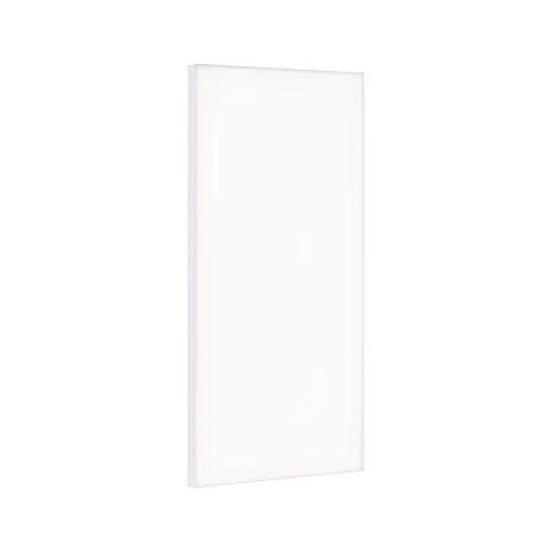 Paulmann 79819 LED Panel Velora eckig incl. 1x29 Watt Deckenlampe Weiß matt Lichtpanel Metall Deckenlicht 3000 K, 29 W, 595x295mm