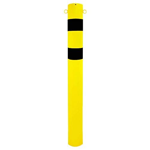 ROBUSTO Rammschutzpoller XXL, zum Einbetonieren, gelb/schwarz, 2 Ösen, aus Stahl, Ø 15,9 cm