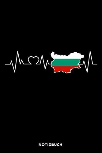 Bulgarien Herzschlag: Notizbuch für Bulgaren & Bulgarinnen   liniert   120 Seiten   ca. A5 Format (15.24cm x 22.86 cm)