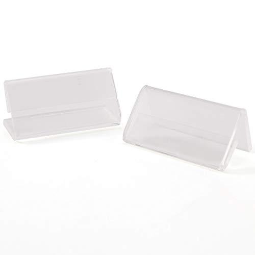 50 Stück Tisch-Namensschilder Acryl Tischaufsteller Tischschilder Hinweisschilder Glasklar für 4x2cm Einsteckschilder