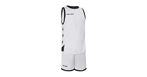 Kelme Basket Vitoria Set Trikot, Kinder XL weiß/schwarz