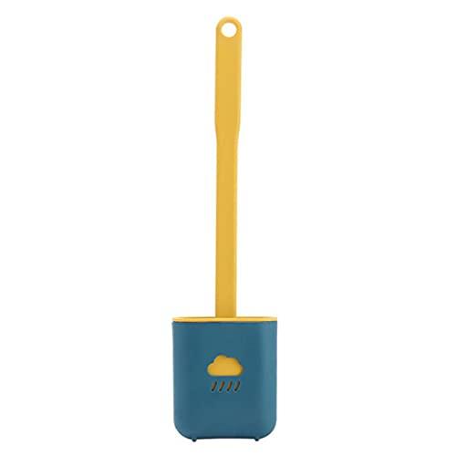 Escobillas para el inodoro con soporte de mango largo nube scrubbeding cepillos de pared de silicona Cepillos colgantes de baño con pegatinas 3PCS amarillo, Escobilla de baño
