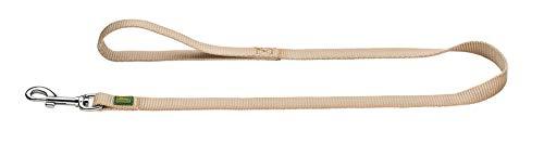HUNTER Hundeführleine, Nylon, mit Handschlaufe, witterungsbeständig und pflegeleicht,  1.5 x 110 cm, beige