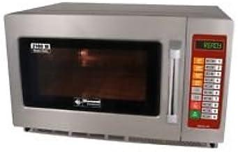 Gastronomía Microondas de acero inoxidable, 34litros de capacidad, 2100W