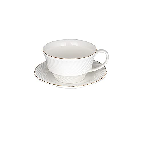 Taza De Café Y Platillo Blancos De Phnom Penh De 250 Ml, Taza De Agarre De Leche Para El Desayuno Con Plato De Postre, Regalo Tazas Personalizadas Originales Graciosa Tazas Dia Del Padre