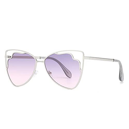 LEERIAN Polarizador Masculino y Femenino UV400 Filtro Anti-Ultravioleta, Gafas de Sol al Aire Libre de Metal de Moda para Conducir/Pesca/Ciclismo/de Compras/Gafas de Golf Deportes,E