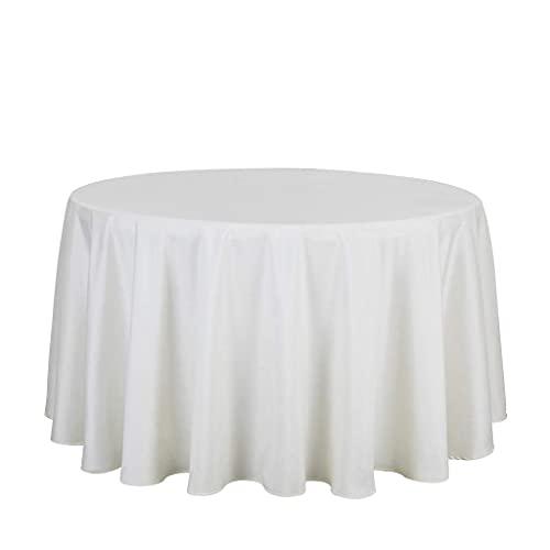 Accesorios para la sala de estar Mantel de color sólido Mantel de mesa redonda Mantel Cubierta de la mesa de la cena Para la boda Inicio Banquete Decoración Mesa de cena Cocina Comedor Cena Picnic
