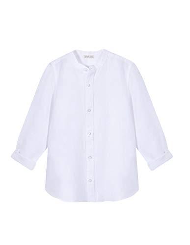 Gocco Camisa Cuello Mao, Blanco (Blanco S02cmlca301wa), 4 años (Tamaño del Fabricante: T: 4-5) para Niños