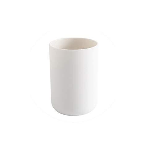 XVXFZEG Cuarto de baño Negro Vaso Copa for Vanity encimeras, también Grande como lápiz Titular de la Pluma y de Maquillaje Cepillo Titular Gargle Copa Parejas Inicio plástico Cepillado de los Dientes