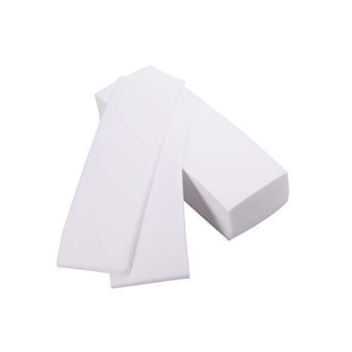 Lurrose 200pcs tiras de depilación tiras desechables de tela no tejida tiras de cera tiras depilatorias papel de depilación