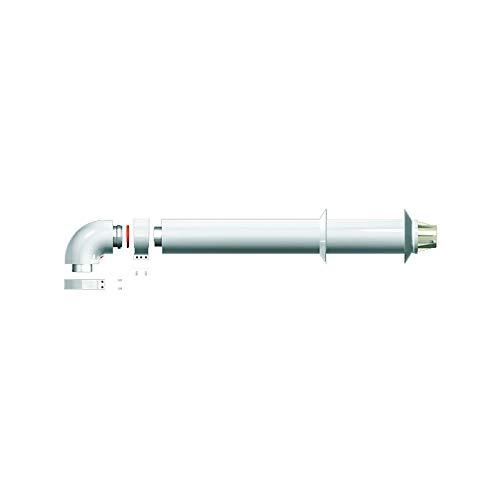 Kit de salida de humos horizontal 60/100. Fabricado para ser instalado en España