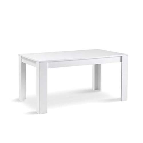 MF Tavolo da Pranzo Greta Bianco Laccato Lucido, 190 x 90 cm