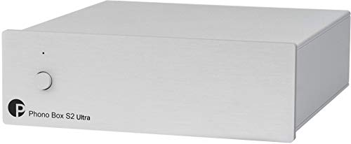 Pro-Ject Phono Box S2 Ultra, Diskrete MM/MC Phono Vorstufe (Silber)