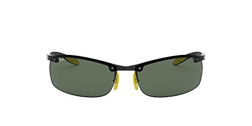 Ray-Ban 0RB8305M Gafas de sol, Shiny Dark Carbon, 40 para Hombre