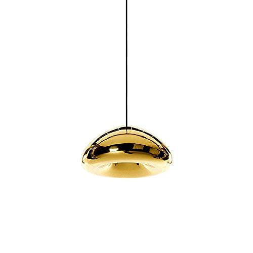 WEM Araña decorativa de la novedad, lámpara colgante de cristalht Iluminación colgante de decoración de suspensión de techo interior minimalista moderna con acabado de vidrio cepillado galvanizado pa