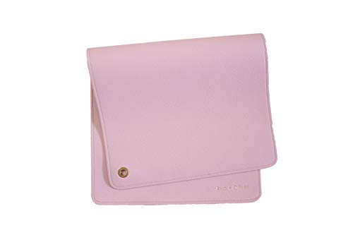 Ava + Oliver Vegan Leather Baby Changing Mat - Multipurpose Portable Wipeable Waterproof Diaper Pad - Compact for Travel (16 x 30 in) (Blush Pink)