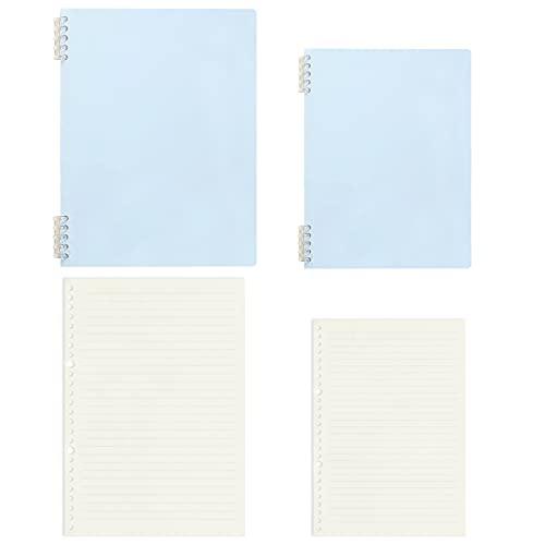 TBoxBo 2 piezas clásico Morandi color esmerilado hojas sueltas A5 B5 cuaderno de escritura a mano con hebilla de clip desmontable