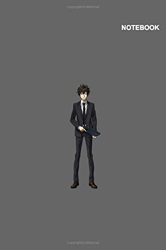 Psycho-Pass Anime Boy Notebook Cover: 110 Pages, (6 x 9 inches) Large, Classic Lined pages.