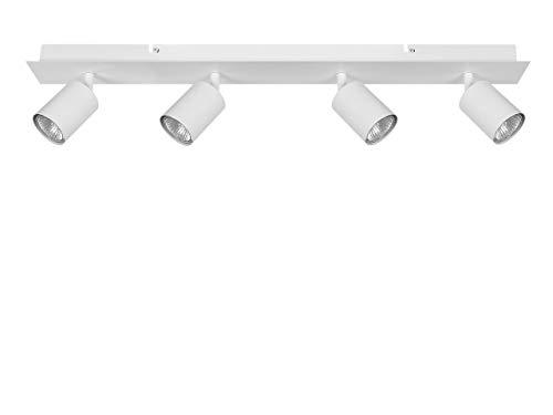 Beliani Lámpara de Techo Blanca Tigris