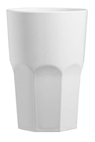 """Garnet Bianco Bicchiere Riutilizzabile """"Granity 40 Latte"""" – Set da 6 Pezzi – Lavabile in lavastoviglie-40 Bordo/ 33-35 cl a Servizio-Made in Italy, 0.4 Litri, Plastica"""