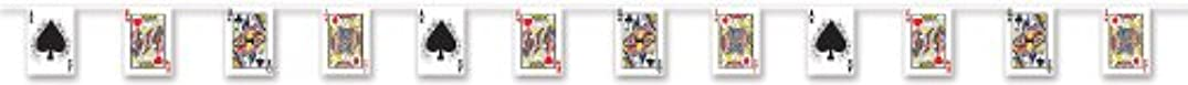 Beistle 54167 Playing Card Pennant Banner, 7-Inch by 12-Feet