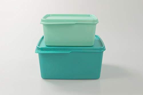 Tupperware Scatola per Il frigo 1,2 L Turchese + 500 ml Menta 36775