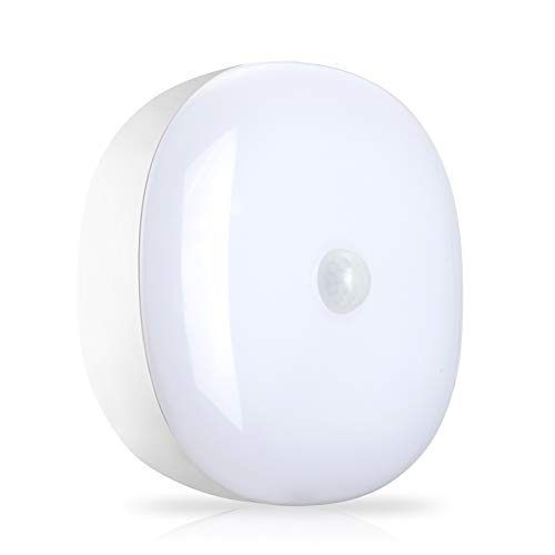 Youtob Battery Powered LED Ceiling Light Wireless Motion Sensor Light 300 Lumens 5W for Indoor Outdoor, Closet, Pantry, Stair, Garage, Basement, Shower(4000K Cool White)