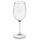Monogrammed White Wine Glasses | Williams Sonoma