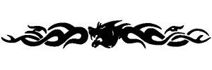 Tribal CarDesign-Folien 90 x 11,5 Black, farbecht, UV-, witterungs- u. hitzebeständig