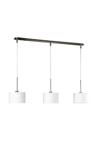 Massive Suspension Light – Suspension Lighting (Flexible, Metal, Synthetics, E27, Synthetics, Chrome, White, White)