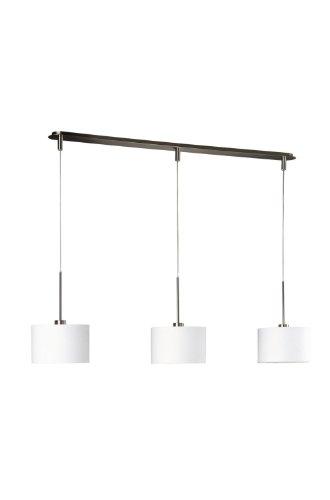 Massive Suspension Light–Suspension Lighting (Flexible, Metal, Synthetics, E27, Synthetics, Chrome, White, White)
