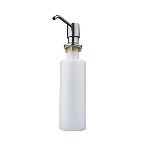 FXJ Dispensador de jabón Manual de Acero Inoxidable Dispensador de lavavajillas para lavavajillas Papelera de jabón de Mano Botella de rotación 360 ° 10.1OZ (Color : White, tamaño : 10oz)
