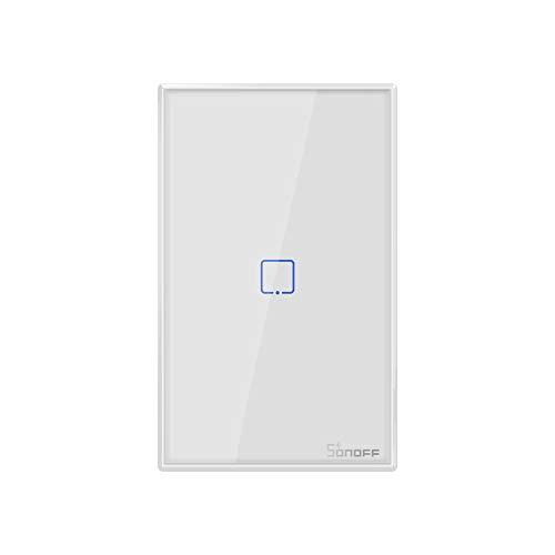 SONOFF T2US1C Interruttore Intelligente Luce Controllo RF Wireless WiFi da Muro, Interruttore a 1 Canale per Soluzioni di Automazione della Casa Intelligente(1-way)