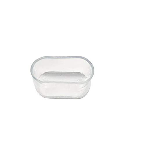 QXYOGO Tacos para Sillas 16pcs Silla de Silicona Pierna Patas Pies Pads Muebles Mesa Silla Pie de Pierna Pies Tapa Tapa Protector Transparente Muebles Piernas 1 (Color : Oval 15x30mm)