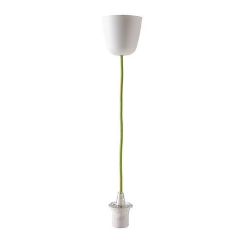 SEKOND - Lampenaufhängung, grün textil