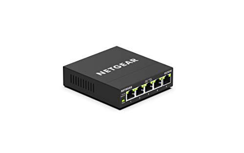 NETGEAR 卓上型コンパクト アンマネージプラス スイッチングハブ GS305E ギガビット 5ポート VLAN QoS 静音...