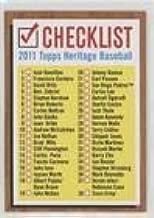 Checklist (Baseball Card) 2011 Topps Heritage - Checklist #1